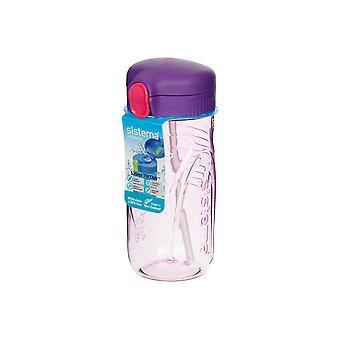 Sistema Quick Flip fles, 520ml paars