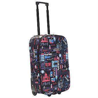 Slimbridge Algarve 55 cm maleta Super ligero, negro/rosa