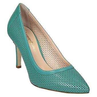 Aquamarine leather stiletto heels pumps shoes