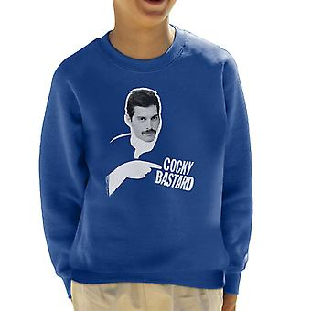 Freddie Mercury Of Queen 1981 Kid's Sweatshirt