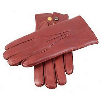 Dents Rabbit Fur Lined Leather Gloves - English Tan