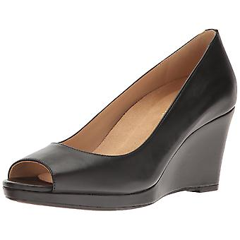 Naturalizer Womens Olivia Leather Peep Toe Casual Platform Sandals
