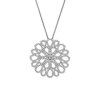 Orphelia Silver 925 Chain With Pendant Circle With Teardrops With Zirconium  ZH-7300