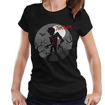Michael Jackson Thriller Graveyard silhuett kvinner t-skjorte