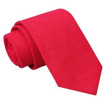 Rode jute linnen slanke Tie