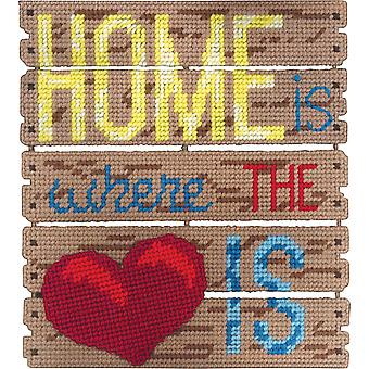 Pallet-Ables Home Is Where The Heart Is Plastic Canvas Kit-10.5