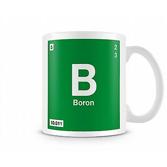 Element Symbol 005 B - Boron Printed Mug