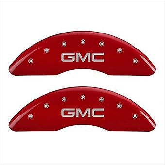 MGP Caliper Covers 34003SGMCRD GMC Red Caliper Covers - Engraved Front & Rear, Set of 4