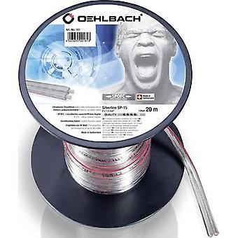 Cable de altavoz de Oehlbach 181 2 x 1.50 mm² transparente 20 m