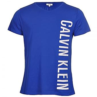 Calvin Klein Intense Power Swimwear Rounded V-Neck T-Shirt, Blue, X Large