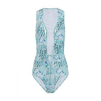 Little Mistress Swimwear Ice Print Racer Back Tie Waist Swimsuit
