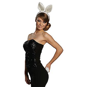 Bunny set vit 2 stycken pannband ull svans Bunny kvinnors Carnival