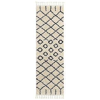 Moroccan Shaggy Hallway Runners By Nourison Mrs01 In Cream
