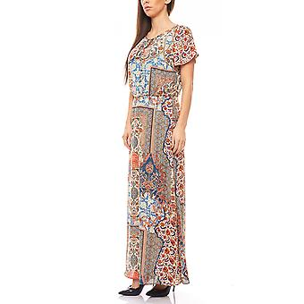 Rick cardona playful Maxi dress in colorful flower pattern