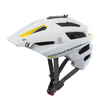CRATONI AllTrack bike helmet / / white/yellow rubberized