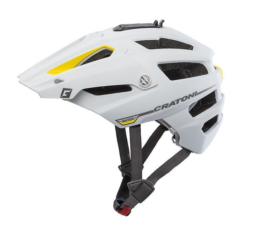 Casque de vélo CRATONI AllTrack     blanc jaune en caoutchouc