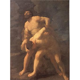 Hercules Wrestling with Achelous, Guido Reni, 50x40cm