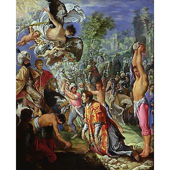 O apedrejamento de Santo Estevão, Adam Elsheimer, 50x40cm