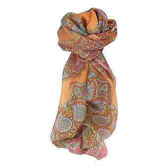 Тутовых шелка традиционными квадратный шарф Andrha нектарин, пашмины & шелка