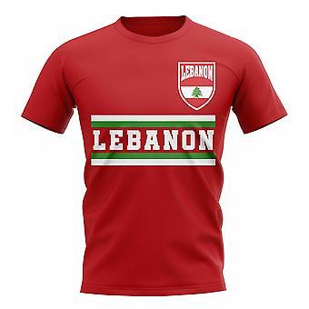 Libanon Kern Fußball Land T-Shirt (rot)