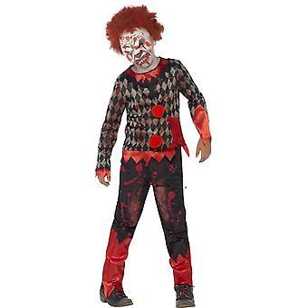 Deluxe Zombie Clown Costume, Small Age 4-6