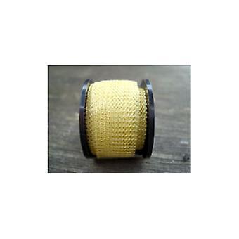 1 x bleg guld belagte kobber 15 mm x 1 m strikkede Mesh håndværk Wire flad rør W7121