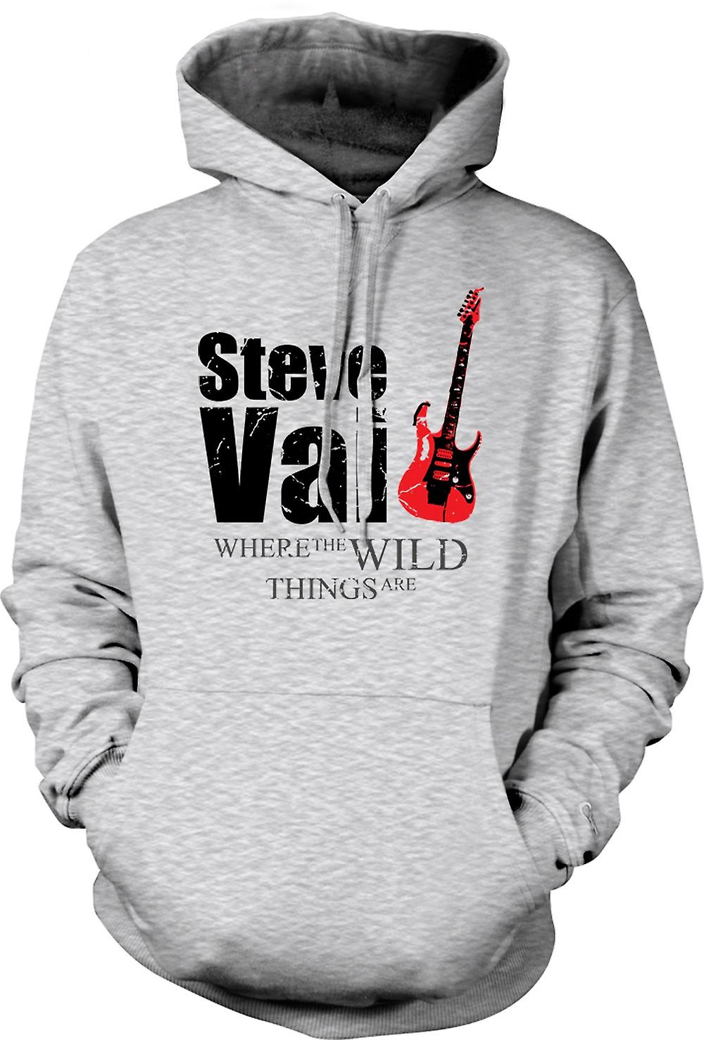 Mens hettegenser - Steve Vai Wild Things - gitar legenden