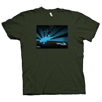 Mens T-shirt-Break Dance Street
