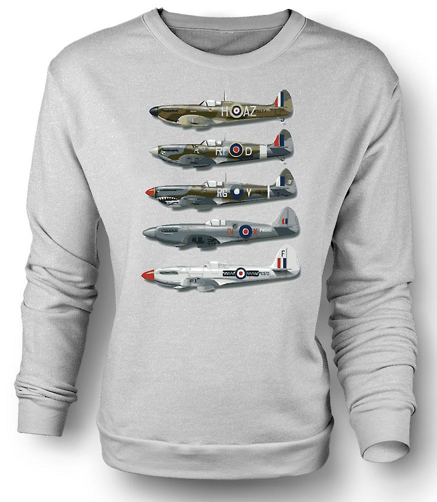 Mens Sweatshirt 5 Spitfires Collage - citat