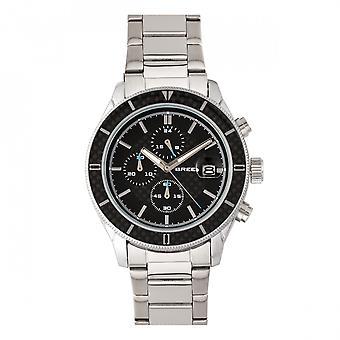Breed Maverick Chronograph Bracelet Watch w/Date - Silver