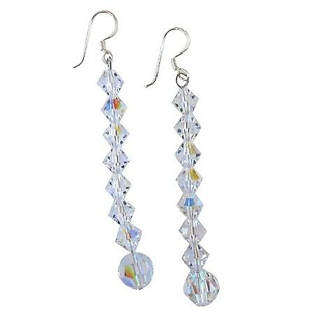 Striking Swarovski AB Earrings Valentine Gifts