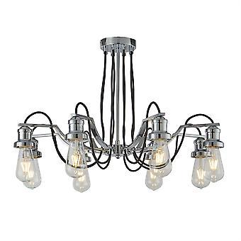 Olivia cromo e nero lampadario otto - Searchlight 1068-8CC