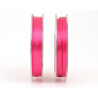 10mm Hot Cerise Pink Polyester Satin Craft Ribbon - 10m