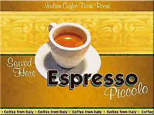Espresso Coffee steel fridge magnet