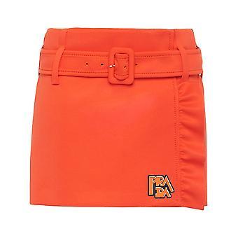 Prada Orange Synthetic Fibers Skirt