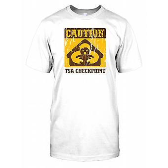 Varning TSA Checkpoint - konspiration barn T Shirt
