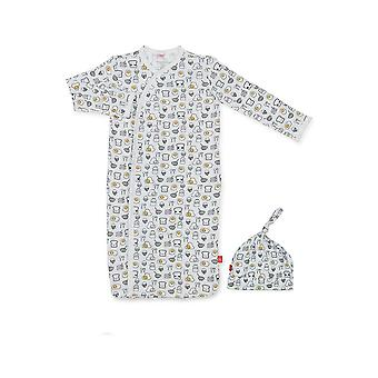 Magnificent Baby Magnetic Me™ Modal Breakfast Club Baby Gown & Hat Set