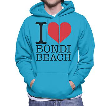 I Love Bondi Beach Men's Hooded Sweatshirt