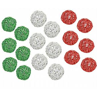 Decoratice brillo Reed bolas 7,5 cm 18/Pk