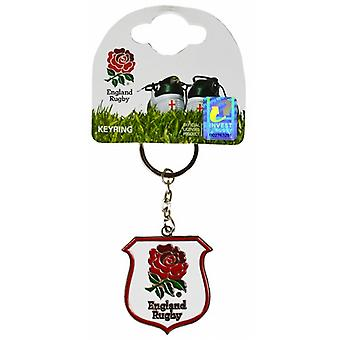 England Rugby-Metall / Emaille Keyring (Spg)