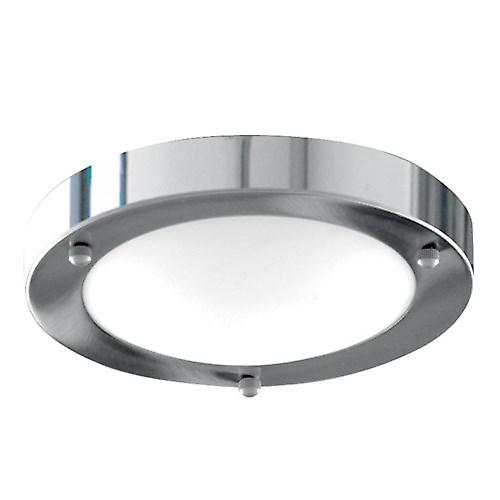 Sökarljus 1131-31CC Dome modernt badrum Flush taklampa med vitt glas
