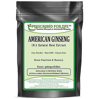 American Ginseng - 10:1 Natural Root Extract Powder (Panax quinquefolius)