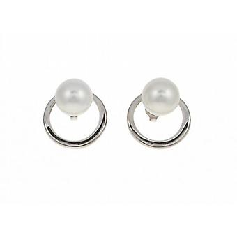 Cavendish French Sterling Silver and Shell Pearl Ring Earrings