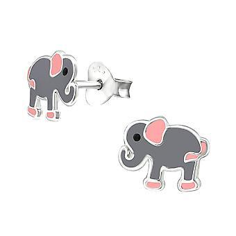 Children's Sterling Silver Elephant Stud Earrings