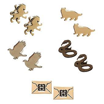 Harry Potter Hogwarts House Symbols Earrings Set