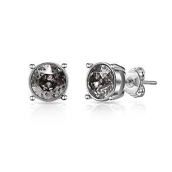 Silver patina earrings created with swarovski® crystals