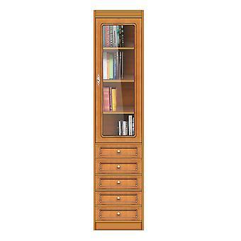 Libreria modulare con cassetti e anta in vetro
