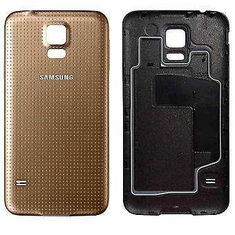Voor Samsung Galaxy S5 Accudeksel  - goud -originele kwaliteit