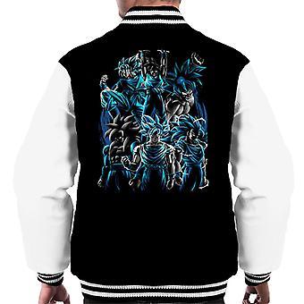 Goku Collage Dragon Ball Z Men's Varsity Jacket