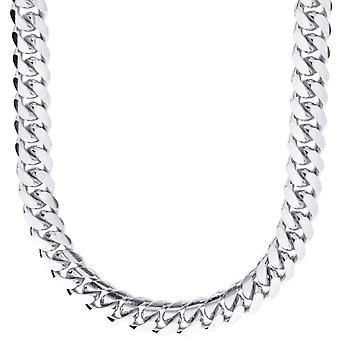 Sterling 925 Silver curb chain - MIAMI CUBAN 10 mm